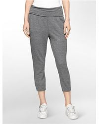 Calvin Klein | Gray Performance Pleated Soft Crop Joggers | Lyst