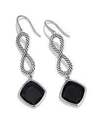 David Yurman Black Confetti Figureeight Drop Earrings with Onyx