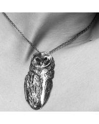 Dominique Lucas - Metallic Owl Necklace - Lyst