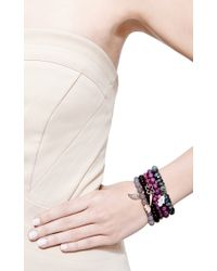 Sydney Evan - Purple Diamond Moroccan Flower Charm Beaded Bracelet - Lyst