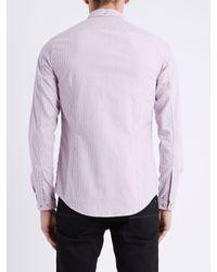 Ben Sherman Pink Bengal Stripe Long Sleeve Shirt for men