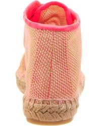 Stella McCartney Pink Mesh Espadrille Ankle Boot