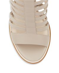 Kenneth Cole | Natural Skylar Leather Cage Sandals | Lyst