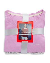 Calvin Klein Purple 2-piece Pajama Set