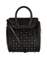 Alexander McQueen | Black Studded Mini Heroine Bag | Lyst