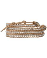 Chan Luu - Gray 32' Grey Pearl Crystal Wrap Bracelet - Lyst