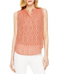 Vince Camuto | Pink Sleeveless Top | Lyst