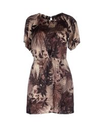 Elisabetta Franchi - Purple Short Dress - Lyst