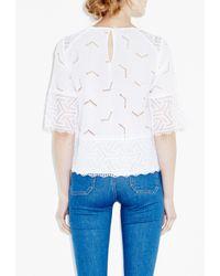 M.i.h Jeans - White Phlox Top - Lyst