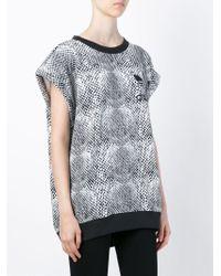 Adidas Black Snakeskin Print T-shirt