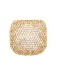 Henri Bendel | Metallic Luxe Pave Dome Ring | Lyst