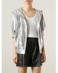 Y-3 - Metallic Hooded Sport Jacket - Lyst