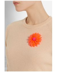 Issa - Orange Azalea Neon Acrylic Flower Brooch - Lyst