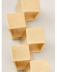 Fiona Paxton - Metallic Kline Cube Necklace - Lyst
