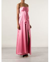 Halston Pink Evening Gown
