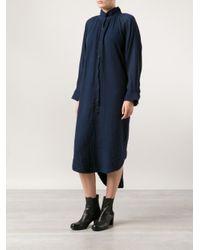 Raquel Allegra Blue Poet Dress