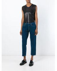 AALTO | Blue Cropped Jeans | Lyst