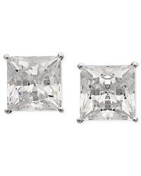 Arabella | White Swarovki Zirconia Princess Cut Stud Earrings (9-3/4 Ct. T.w.) | Lyst