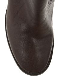 Tory Burch Brown Kayden Leather Ankle Boots