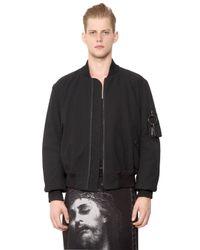 Givenchy | Black Cotton Seersucker Bomber Jacket for Men | Lyst