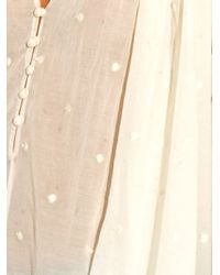 Mes Demoiselles White Lina Embroidered Cheesecloth Top