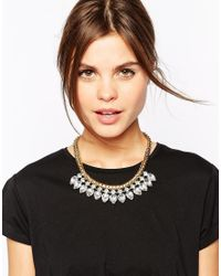 Ted Baker - Metallic Emari Crystal Chain Triple Row Necklace - Lyst