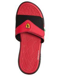 Puma Men S Ferrari Slide Sandals From Finish Line In Black Red Red For Men Lyst