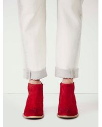 Free People | Red Jeffery Campbell Womens Monroe Chelsea Boot | Lyst