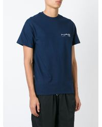 Nasir Mazhar Blue Round Neck T-shirt for men