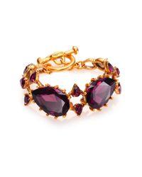 Oscar de la Renta - Metallic Pear Crystal Bracelet - Lyst