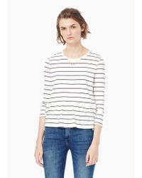 Mango | White Striped Bicolor T-shirt | Lyst