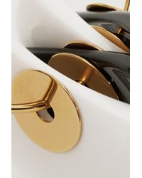 Marni - Black Gold-Plated, Horn And Resin Clip Earrings - Lyst