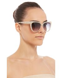 Prism - White Moscow Mother Of Pearl Cat-Eye Sunglasses - Lyst