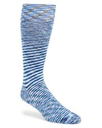 Calibrate | Blue Space Dye Socks for Men | Lyst