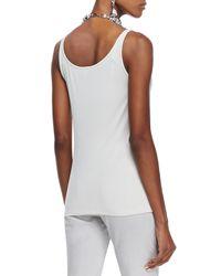 Eileen Fisher | Natural Silk Jersey Long Slim Camisole | Lyst
