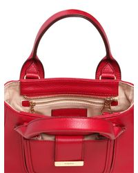See By Chloé Red Mini Delia Grained Leather Top Handle