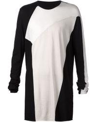 Julius - Black Long Sleeve Paneled T-shirt for Men - Lyst
