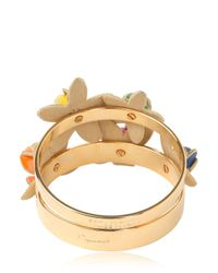 DSquared² - Multicolor Set Of Two Brass Bangle Bracelets - Lyst