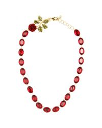 Dolce & Gabbana | Red Crystal-embellished Necklace | Lyst