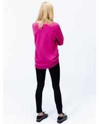 Joules Pink Kiara Dropped Shoulder Jumper