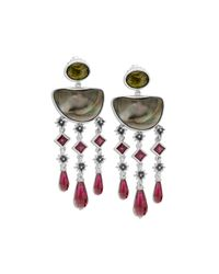 Stephen Dweck | Metallic Tahitian Mabe Pearl Drop Earrings | Lyst