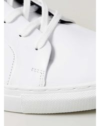 TOPMAN - White Leather Trainers for Men - Lyst
