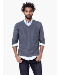 Mango | Gray Cable-knit Cotton Sweater for Men | Lyst