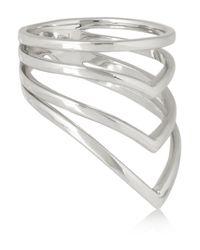 Arme De L'Amour Metallic Chevron Silver Ring