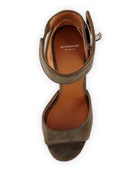Givenchy - Natural Suede Sharklock Sandal - Lyst