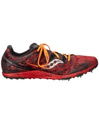 Saucony Red Carrera Xc (spike) for men