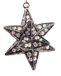 Noor Fares Metallic Diamond & Gold Merkaba Star Earrings