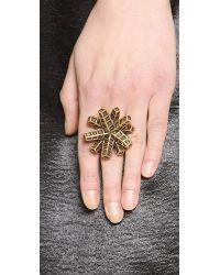 Oscar de la Renta | Metallic Anemone Ring - Russian Gold | Lyst