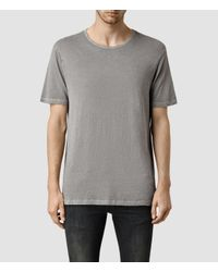 AllSaints | Gray Mattiaf Crew T-shirt for Men | Lyst
