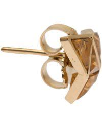 Nak Armstrong | Metallic Gold Mandarin Garnet Stud Earrings | Lyst